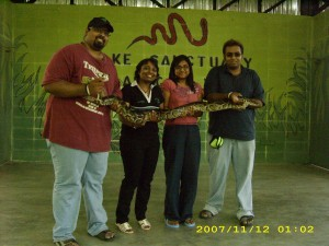 At The Snake Farm? Place? Exhibition Center??